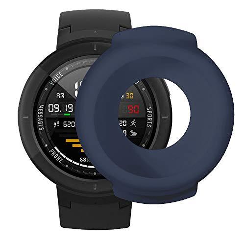 Vamoro Soft Silikon Classic Sportarmband Ersatz Uhrenarmbänder Weiche TPU-Schutzhülle aus Silikon für Huami Amazfit Verge Smart Watch(Dark Blau)