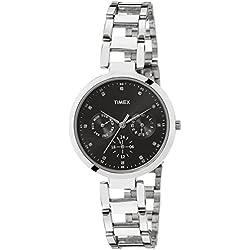 Timex E-Class Analog Black Dial Women's Watch - TW000X205