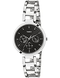 Timex E-Class Analog Black Dial Women's Watch-TW000X205