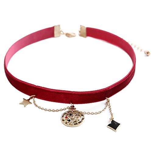 ec1794d72412 CHENYAJUAN Tejido Terciopelo Handmade Necklace Collar Collar Cuello Cadena  De Cuello con Clavícula