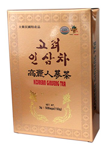 100% Authentic Koreanischer Gold Instant Ginseng Tee 50 Päckchen UK Verkäufer