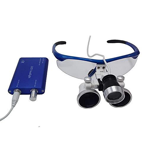 SJ_0515 LAMP 3.5X420mm zahnmedizinische chirurgische Lupen-Vergrößerungsglas, binokulares Vergrößerungsglas mit LED-Hauptlicht-Lampe Freies Verschiffen zahnmedizinische Lupen -