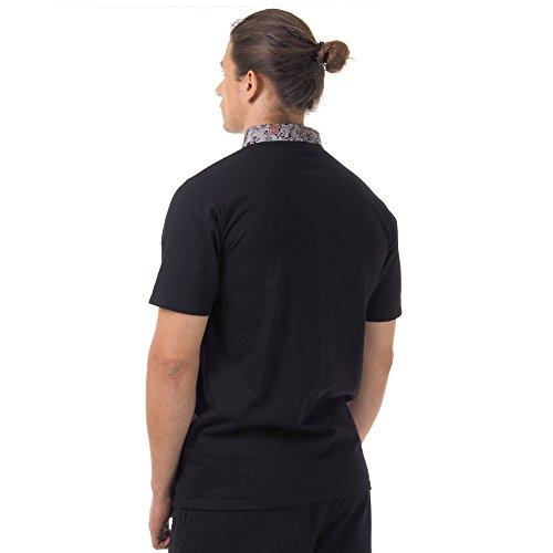 Kung-Fu,Tai-Chi & Meditations T-Shirt Baumwolle & Seide Schwarz M L XL Schwarz