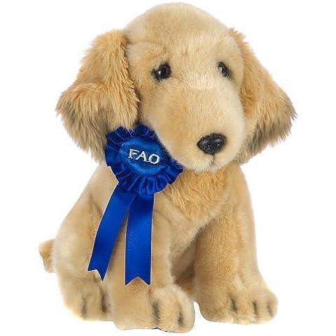 FAO Schwarz 11 Blue Ribbon Plush Golden Retriever - Tan by FAO Schwarz