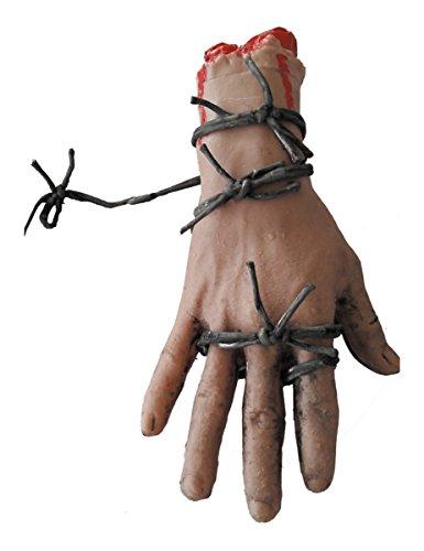 lutige Hand auf Stacheldraht Halloween-Deko Einheitsgröße ()