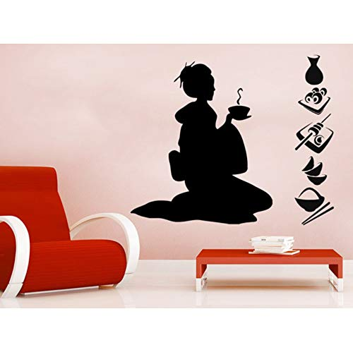 ha Silhouette Kunst Kreative Wandmalereien Home Moderne Spezielle Dekorative Vinyl Neu Wandaufkleber Salon Mädchen Serie ()