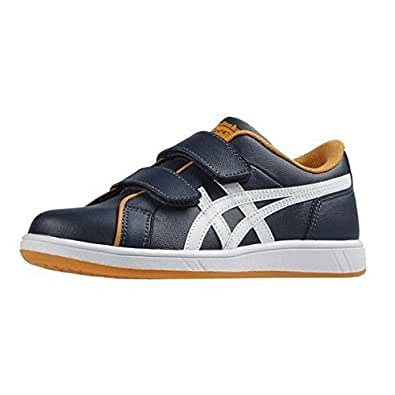 Onitsuka Tiger Larally Ps - Baskets Basses Mixte Enfant - Bleu (Marino/Blanco) - 32.5 EU
