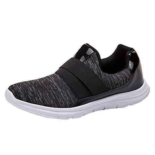 Makalon Paar Mode Freizeit Laufsport Socken Schuhe Damen Student Beiläufig Elastisch Leichtgewichtige Turnschuhe Mädchen Sport Schuhe Stiefeletten Slip On Schuhe Net Schuh (40, Schwarz -1) -