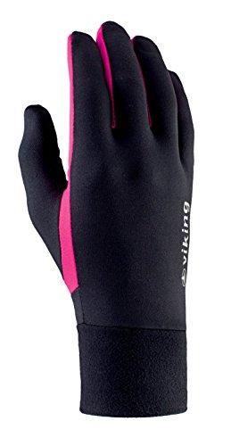 viking Multifunktions Handschuhe Damen und Herren - für Langlauf, Radsport, Wandern, Eislaufen - Runaway, 46 schwarz/pink, 6