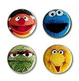 Logoshirt Sesamstrasse - Helden - Button 4er Set - Anstecker - Lizenziertes Originaldesign