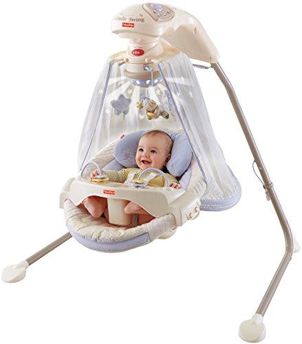 Fisher Price Star Light Papasan Cradle Swing (Multicolor)