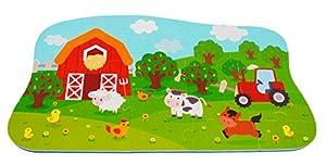 BIECO 19009608-Puzzle Matte Farm, 25Piezas