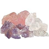 Wassersteine Grundmischung 1 Kg Edelsteinwasser Rohsteine Amethyst + Rosenquarz + Bergkristall preisvergleich bei billige-tabletten.eu