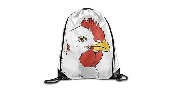 Drawstring Backpack Rooster Shoulder Bags