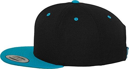 Flexfit Classic Snapback 2-Tone Kappe, Mehrfarbig, one size Black/Teal