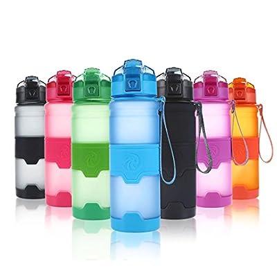 ZORRI Sport Trinkflasche 400/500/700ml /1l, BPA Frei Auslaufsicher & Umweltfreundlich Wasserflasche, Kinder & Frauen- One Handed Open & Tritan Sportflaschen Für Gym/Yoga/ Camping/Outdoor/ Männer