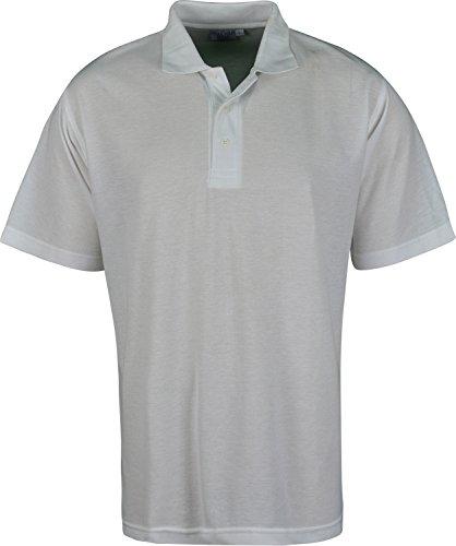 Schlichter Herren Polo Shirt Short Sleeves Weiß - Weiß