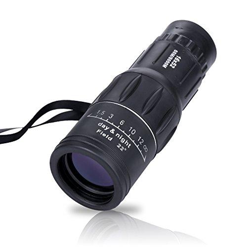Kimfoxes Spektiv Teleskop Monokular Fernrohr Fernglas 16 x 52 Dual Focus für Reise, Urlaub, Wandern, Vogelbeobachtung