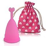 Coupe menstruelle CozyCup - fabriqué exclusivement en silicone médical - avec sac...