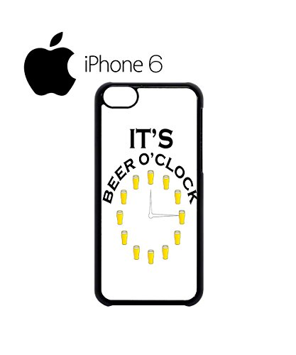 It's Beer O'clock Pub Funny Swag Mobile Phone Case Back Cover Hülle Weiß Schwarz for iPhone 6 White Weiß