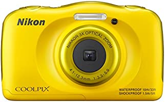 Nikon COOLPIX S33 Compact Digital Camera - Yellow (13.2 MP, CMOS Sensor, 3x Zoom) 2.7 -Inch LCD
