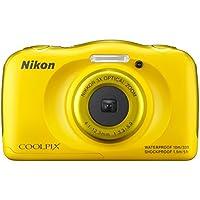 Nikon COOLPIX S33 Compact Digital Camera - Yellow (13.2 MP, CMOS Sensor, 3x Zoom) 2.7 -Inch LCD