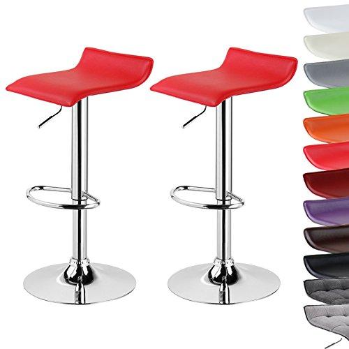 Barhocker Design Drehstuhl Hocker Barstuhl Lounge Bar Hocker Stuhl 2x Rot BH11rt