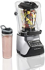 Hamilton Beach Quiet Blender, 55% Less Noise, 950 Peak Watts, 3 Presets Smoothie Ice Crush, 1.5L Food & Dr
