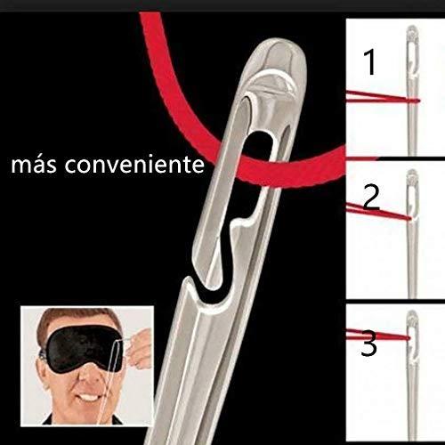 Aguja instantánea Needles self throughout auto en todo Needles Juego de reparación de Costura Manual de 12 Plata Las Personas Mayores, Incluso con los Ojos vendado s, también se Pueden Usar fácilmente