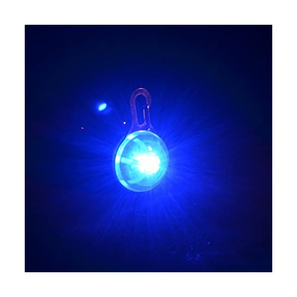Keysui High visibility Clip-on Pet Dog Collar LED Safety Light - Luminous Pendant for Outdoor Safety 1