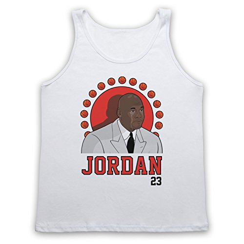 Inspiriert durch Crying Jordan Michael Jordan 23 Basketballer Award Inoffiziell Tank-Top Weste Weis