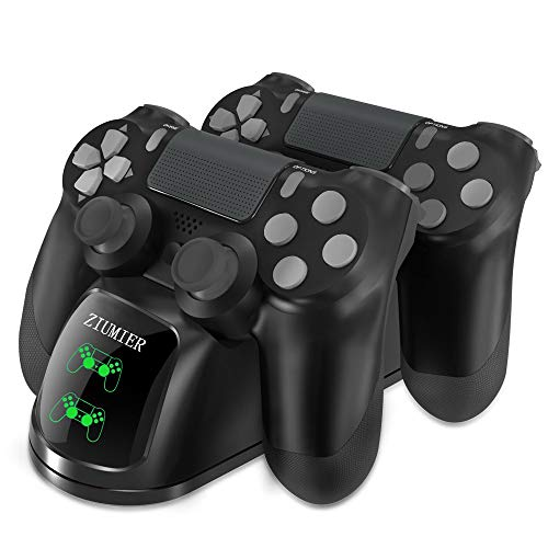 PS4 Controller Ladestation Charger, Likorlove Dualshock Docking Ladegerät Stand Mit USB Kabel und LED Für Sony Playstation 4 / PS4 Slim / PS4 Pro Game Controller (Schwarz 2nd)
