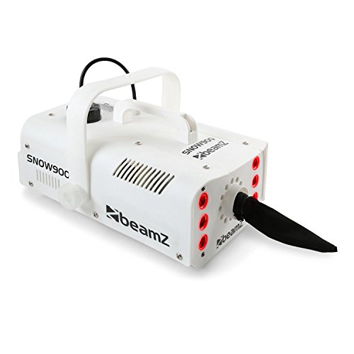 beamZ Snow 900 LED Máquina de nieve 3 en 1 (900W, luces LED, tanque 1 litro)