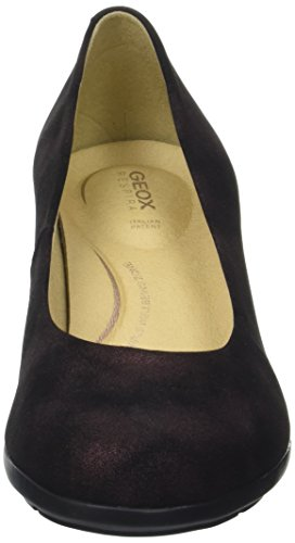 Geox D Annya Mid B, Scarpe con Tacco Donna Marrone (Dk Burgundy)