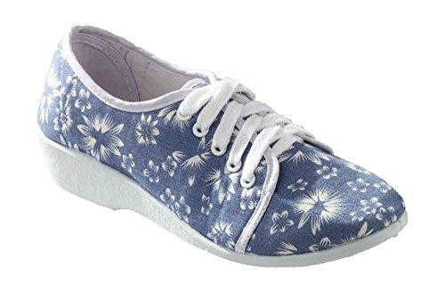 Mirak Bounty lacets en chaussures d'été pour femme - Floral