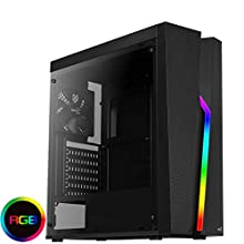 Aerocool BOLT, boîtier PC, ATX, panneau acrylique, modes RGB 13, ventilateur 12cm