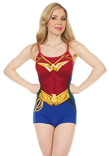 Wonder Woman Anatomische Cami Short Set Large (Set Cami Woman Wonder)