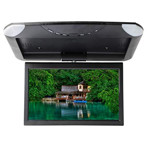10,1 zoll Auto Flip Down Monitor 1080 P HD TFT LCD Dachmontage Monitor Ultra Thin Overhead Video Player für Auto SD MP3 MP5 LED mit USB SD FM,Black