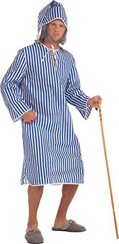 isches Kostüm Party Ebenezer Scrooge Herren Nachthemd & Kappe ()