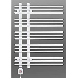 Electric Towel Rail, Heated Towel Rail, White Straight, Incl. Heating Element, Fix and Delivered - White, 800h x 500b