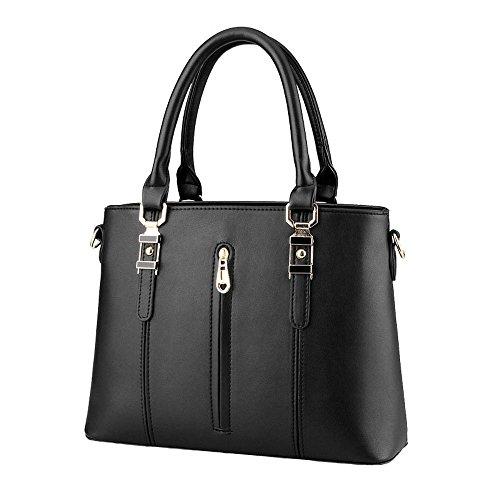 koson-man-mujer-piel-sintetica-vintage-cremallera-tote-bolsas-asa-superior-bolso-de-mano-negro-negro