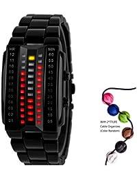 TTLIFE Reloj de Pulsera hombres Digital Deportivo LED Reloj Impermeable al aire libre para hombres y mujeres Resistente al agua(Negro)