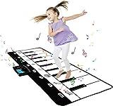 TOYSBBS Piano Matte, 43.30x14.17 Zoll Klaviermatte Musikmatte mit 10 Demo Lieder & 8 Instrumenten, 19 Keyboard Musik Matte für Kinder & Baby