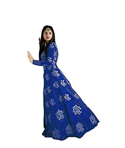 7th Feb Women\'s Tapeta Silk Anarkali Fancy Gown. (204_Free Size) (D.pink)