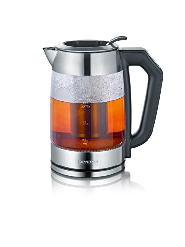 SEVERIN WK 3477 Digital Glas Tee- und Wasserkocher, 1.7 L, 2200 - Wasserkocher Kochen
