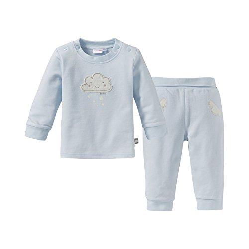 Bornino Bornino Basics Schlafanzug/Schlaf-Set/Stramplerset/Strampler-Sets / 2er Set - Langarmshirt und Hose, rosa, mit Wolken-Muster und Druckknöpfen, Baumwolle - Zweiteiliger Schlafanzug für Mädchen