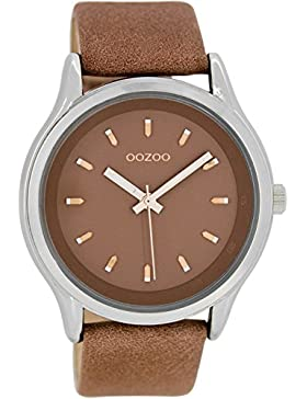 Oozoo Damenuhr mit Lederband 44 MM Braunbeige/Braunbeige C7437