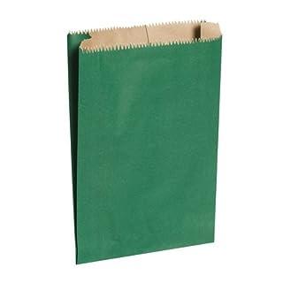 Green paper bags, 6 x 2 x 8