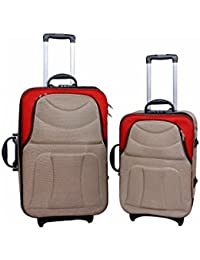 "UNIVERSAL TRAVELLER BAG-DEPENDABLE-SET OF 2 BAGS (BADGE WITH RED) 24""+20"""