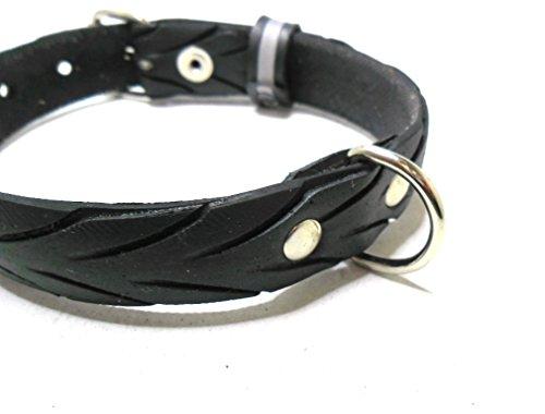 Handmade Hundehalsband aus Fahrradreifen (upcycling). Halsumfang von 28cm - 36cm. - 3